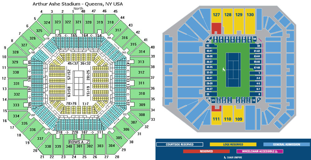 Finding Kosher Food The US OPEN Tennis In Queens NY Guide - Us open venue map